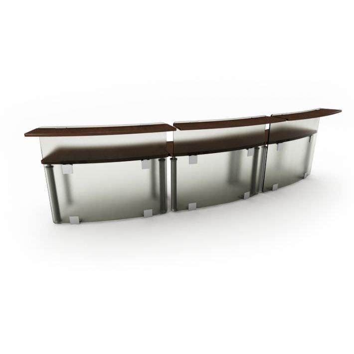 Black Modern Table Reception Desk 44 Am53 3d Model 1