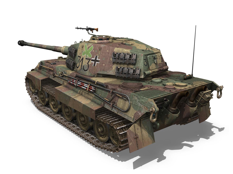 Panzerkampfwagen Vi Ausf B Tiger Ii 313 3d Model