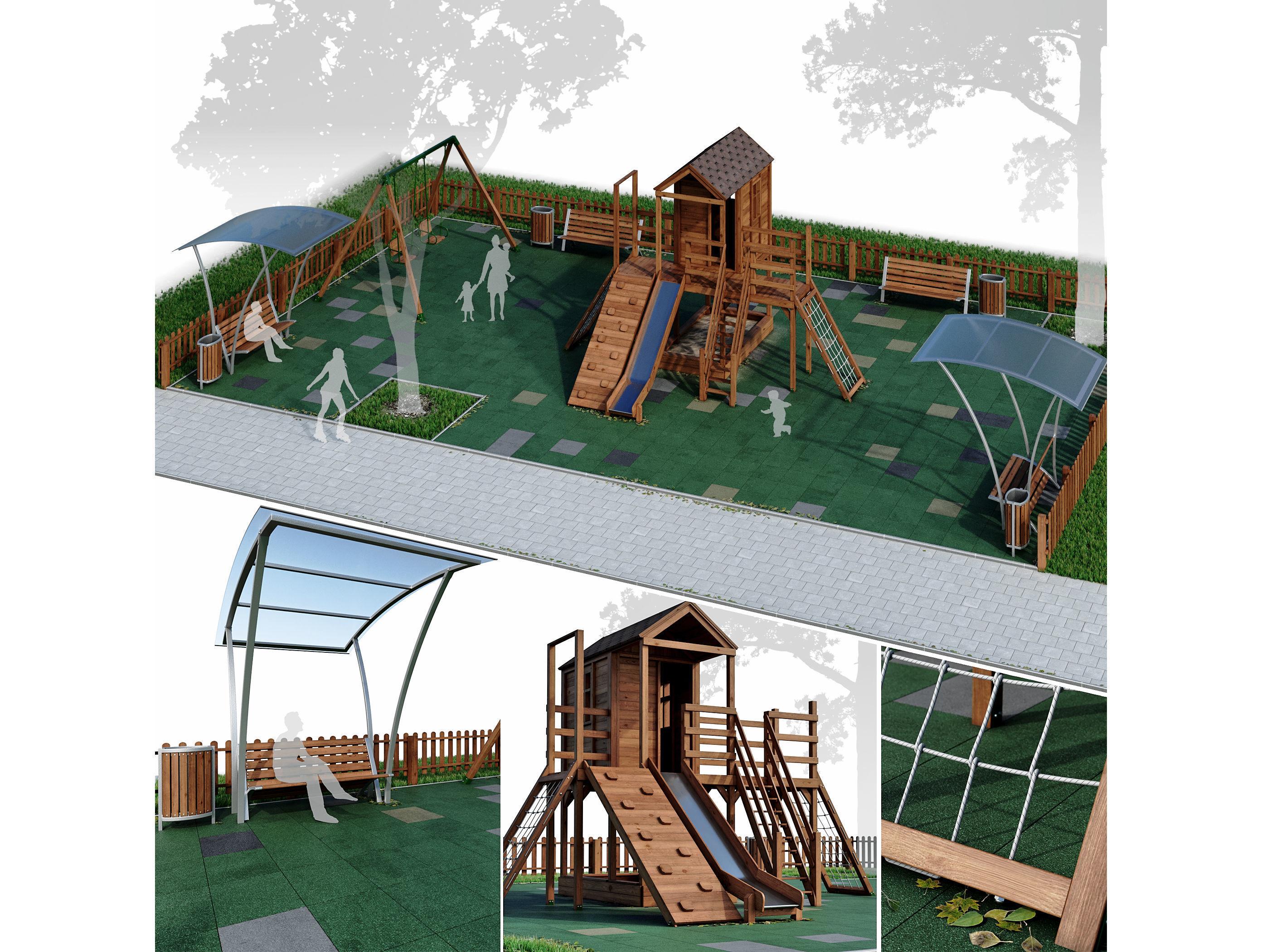 Children playground Forest house