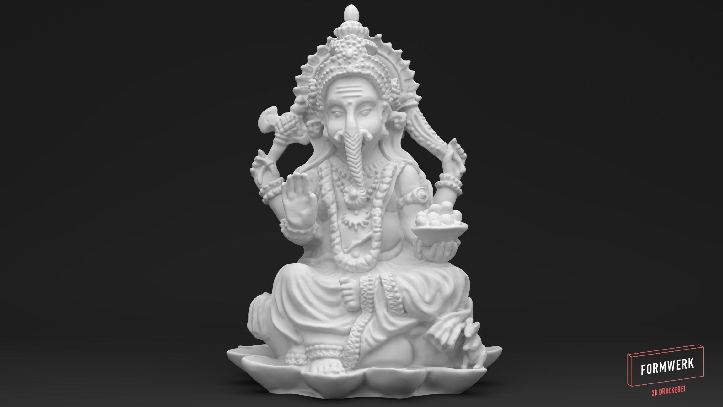 Ganesha - 3D printable Scan - Statue 3D print model