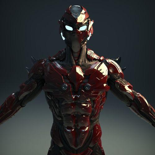 sci-fi character v2 3d model obj mtl ztl 1