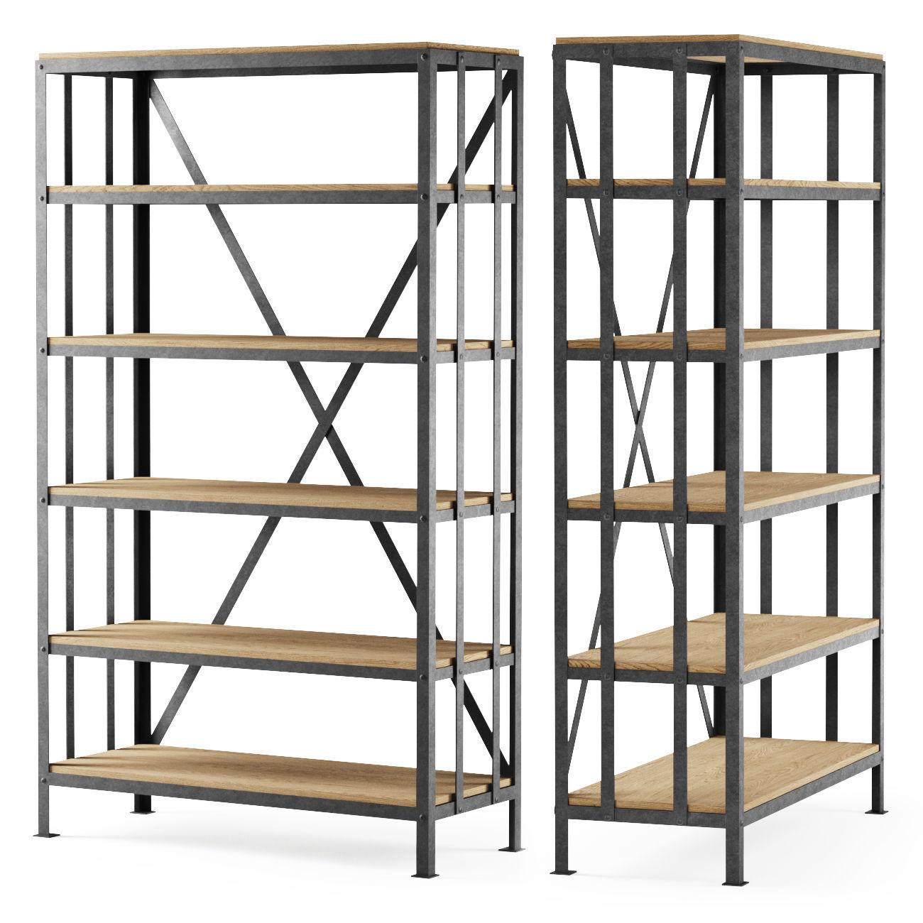 Metal rack middle