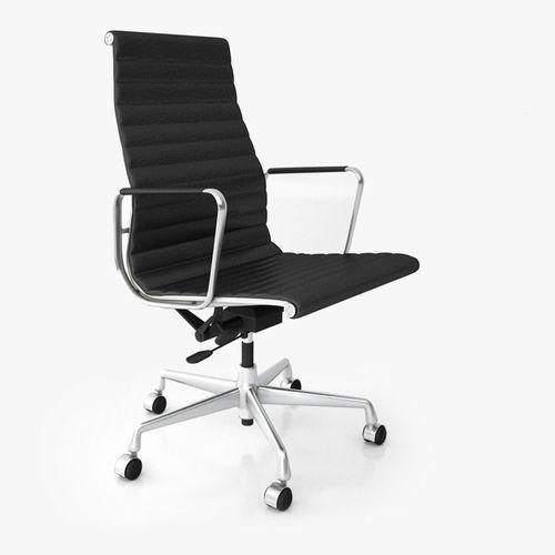vitra aluminium office chair ea 119 3d cgtrader. Black Bedroom Furniture Sets. Home Design Ideas