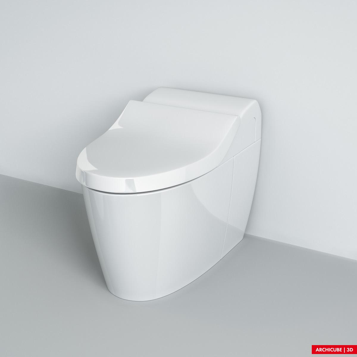 Toilet 03 3d model max obj fbx - Toilet model ...