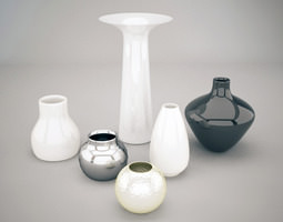 Vases collection 3D