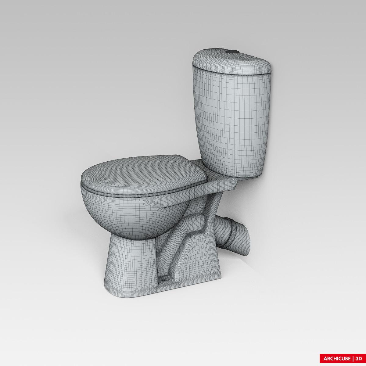 Toilet 04 3d model max obj fbx - Toilet model ...
