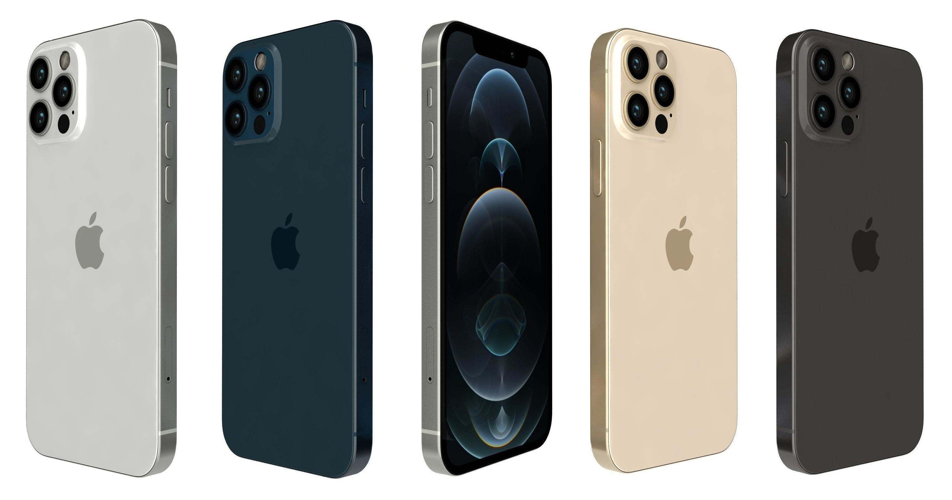 3D Apple iPhone 12 Pro All Colors | CGTrader