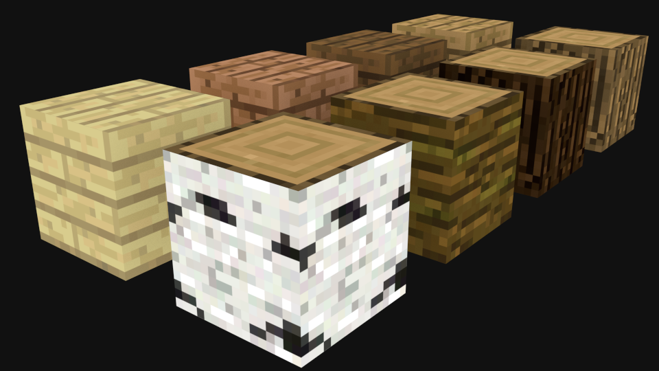 Blender Minecraft Wooden Planks And Logs Cycles Only Free