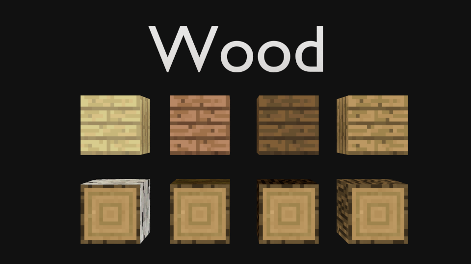Blender minecraft wooden planks and logs c free d