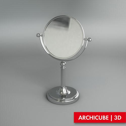 Vanity mirror 3d model cgtrader for Mirror 3d model