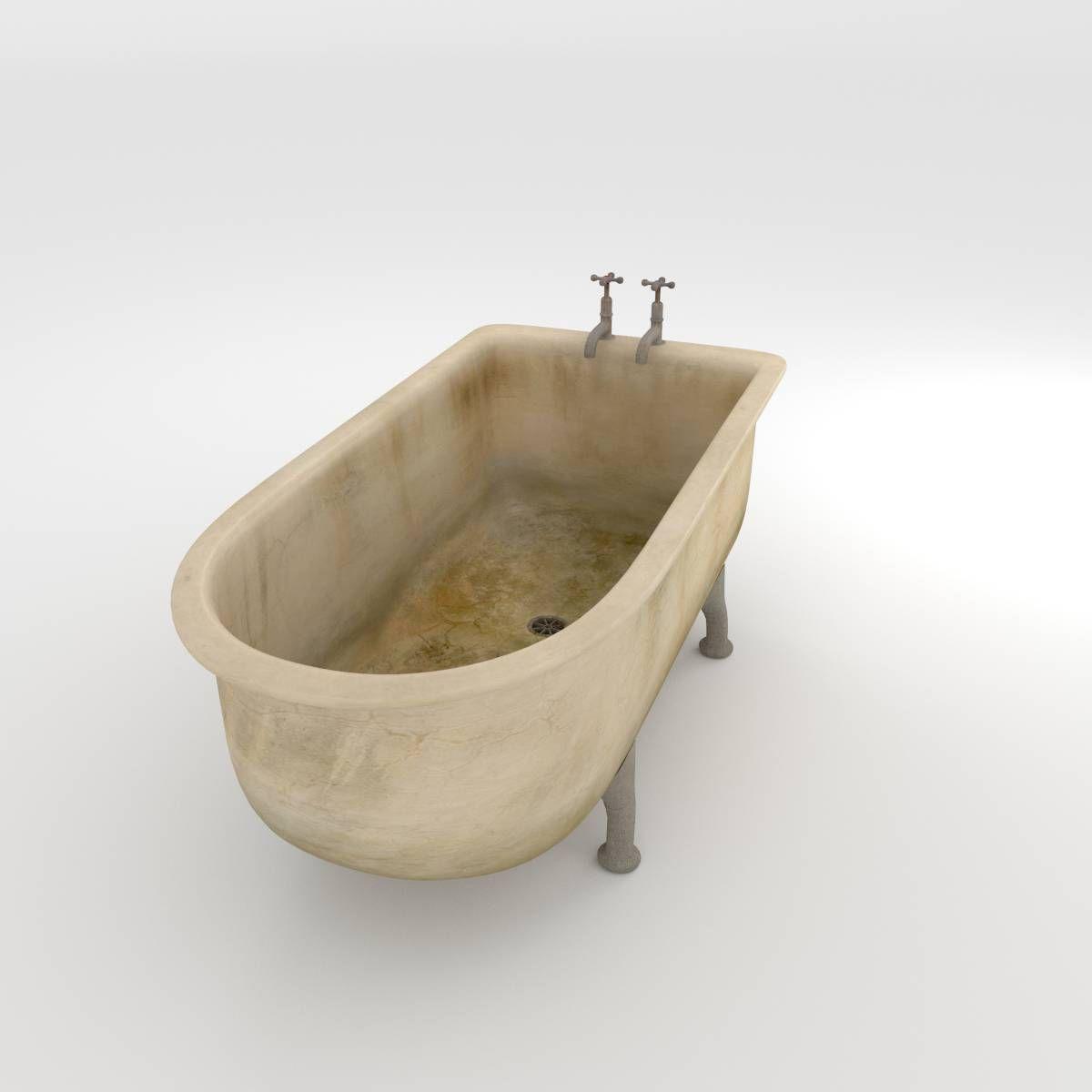 Dirty Bathroom Pics: Dirty Bath 3D Model OBJ FBX BLEND MTL