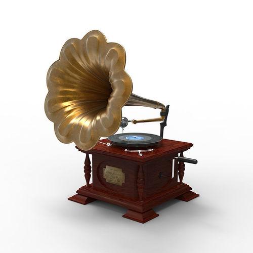gramophone 3d model obj mtl 1
