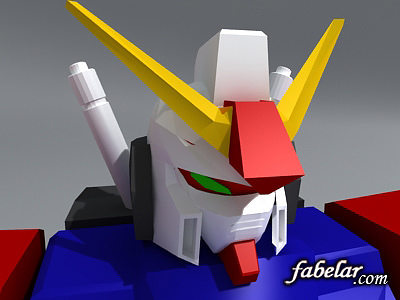 gundam 3d model max obj 3ds 1