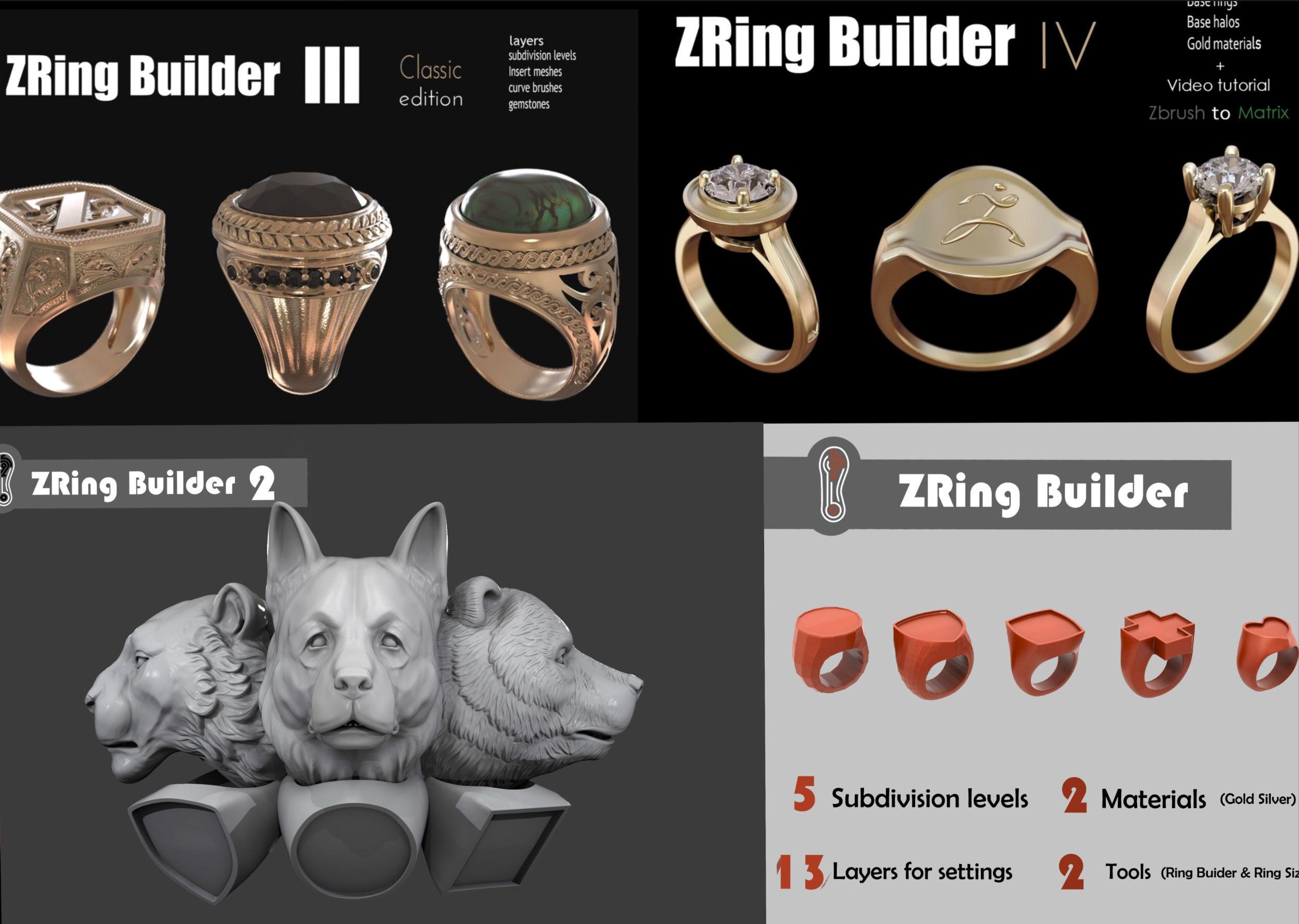 Zbrush Ring builder pack