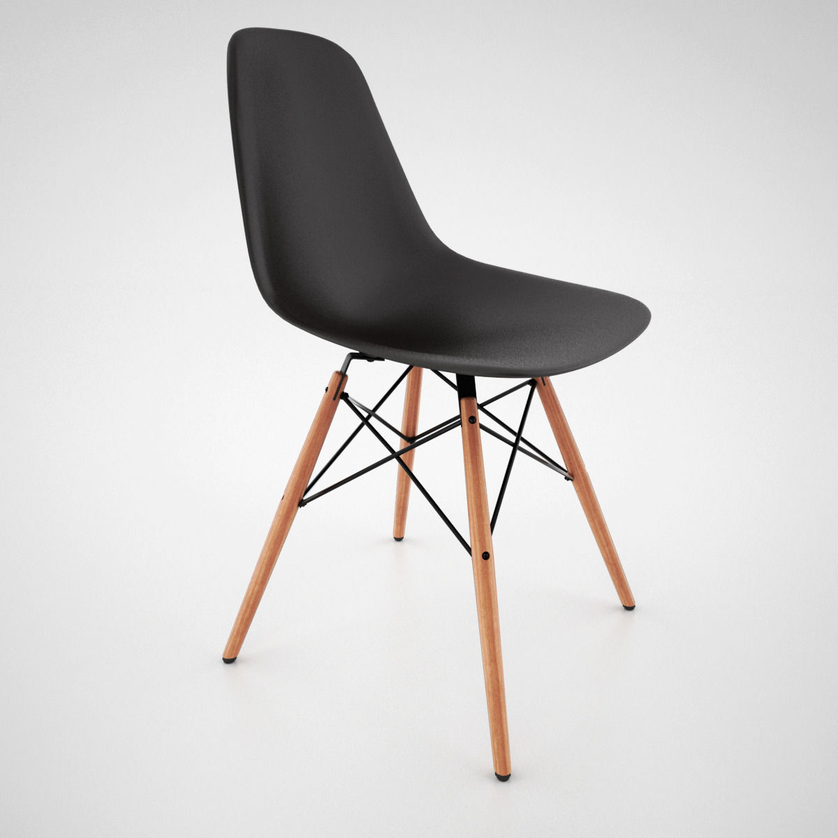 ... Vitra Dsw Chair And Eames Table 3d Model Max Obj Fbx Mat 6 ...