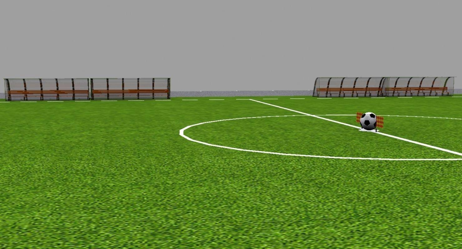 Soccer Field 3d Model Cgtrader Com
