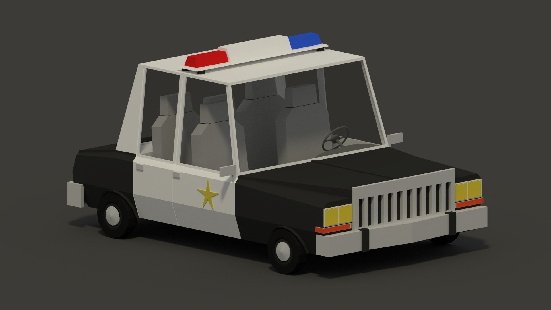 Plymouth Diplomat Police Low-Poly
