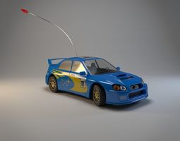 3d model rigged micro subaru