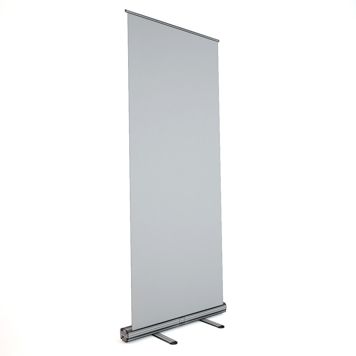 Banner stand roll up 3d model max obj fbx for Stand roll up