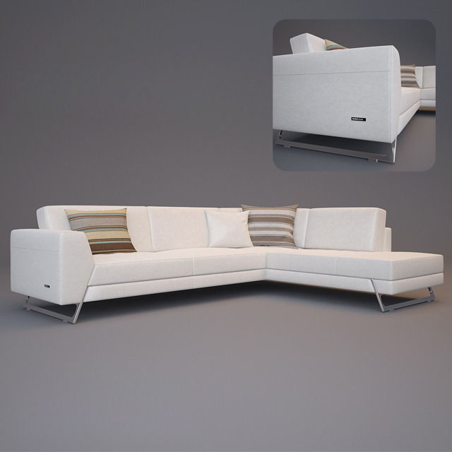 Roche Bobois Satelis Canape Sofa and Armchair free 3D Model MAX ...