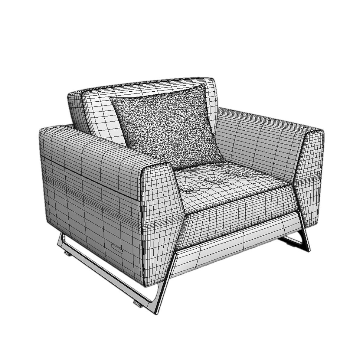 Roche bobois satelis canape sofa and armchair free 3d for Canape en solde roche bobois