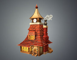 Low Poly Stylized Tavern 3D model