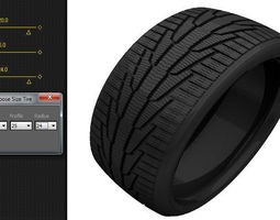 Scripted Tire Size Changer 3D model