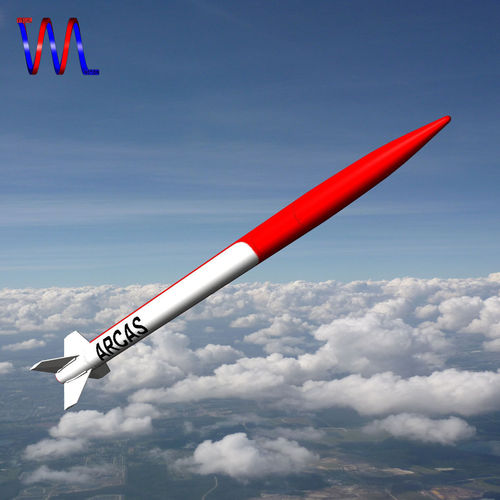 arcas sounding rocket 3d model low-poly obj 3ds fbx dxf blend dae 1