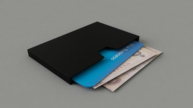 wallet standard 3d model obj mtl 1