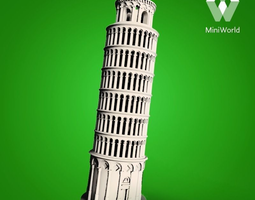 leaning tower of pisa 3d print model