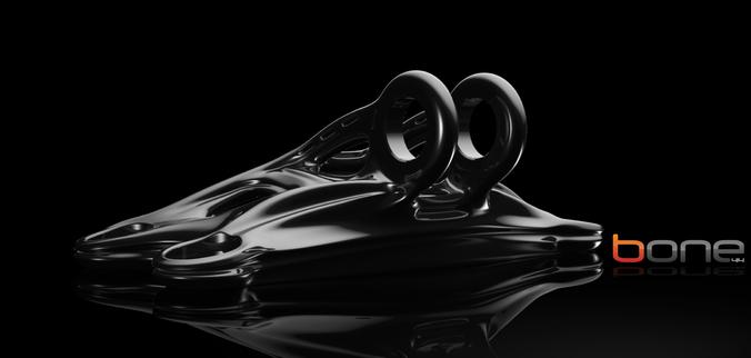 jet engine bracket 3d model obj 3dm stp 1