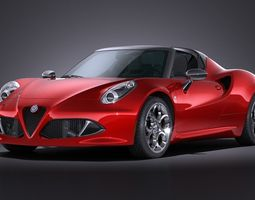 Alfa Romeo 4C Spider 2016 3D Model