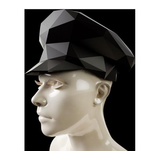 low poly sergeant hat 3d model obj mtl 1