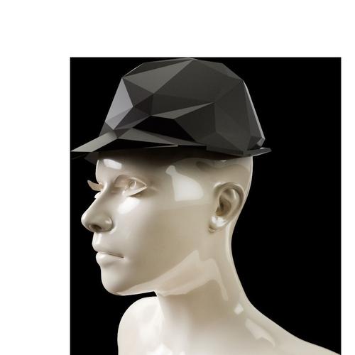 lowpoly trilby hat 3d model obj mtl 1