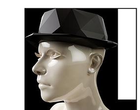 3D printable model LowPoly Fedora Hat