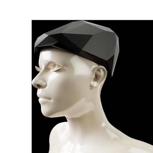 lowpoly newsboy hat 3d model obj mtl 1