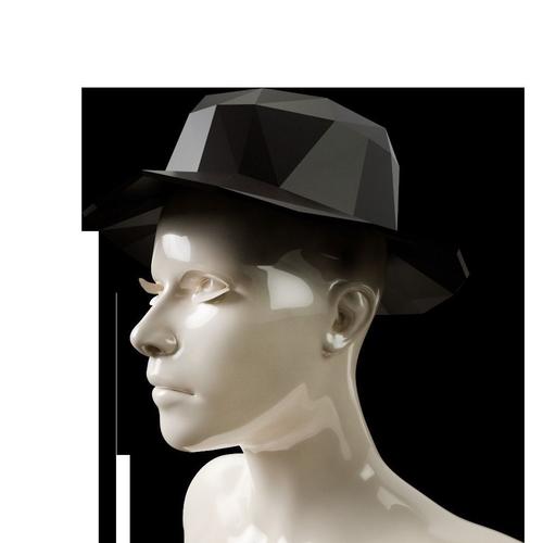 lowpoly sun hat 3d model obj mtl 1