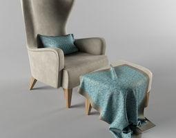 3D model Duke Lounge Chair