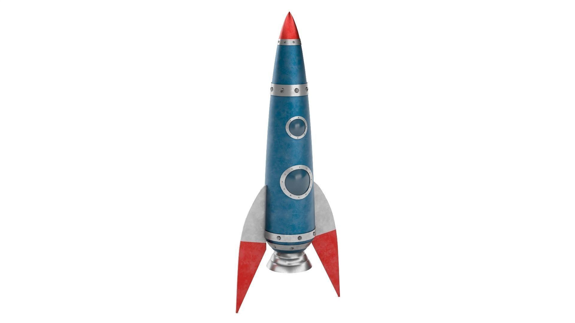 Blue Metal Rocket