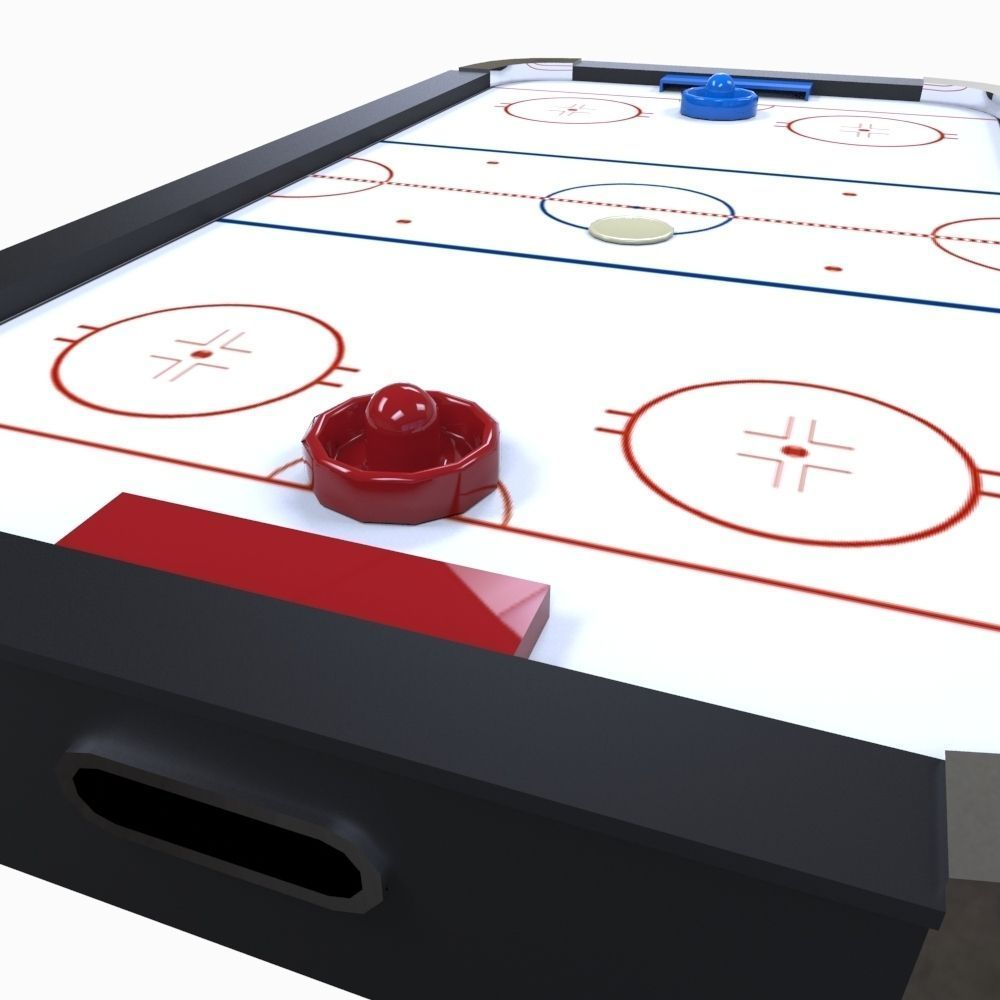 air hockey table 3d model fbx ma mb 1