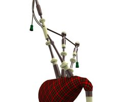 3d asset bagpipes game-ready