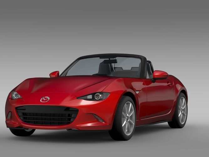 mazda mx 5 nd 2017 3d model obj 3ds fbx c4d lwo lw lws ma mb 1