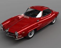 Alfa Romeo Giulia SS 1963 3D model
