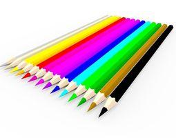 realtime coloring pencils 3d asset