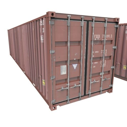 48D Model Lowpoly Shipping Container CGTrader New Shipping Furniture Model