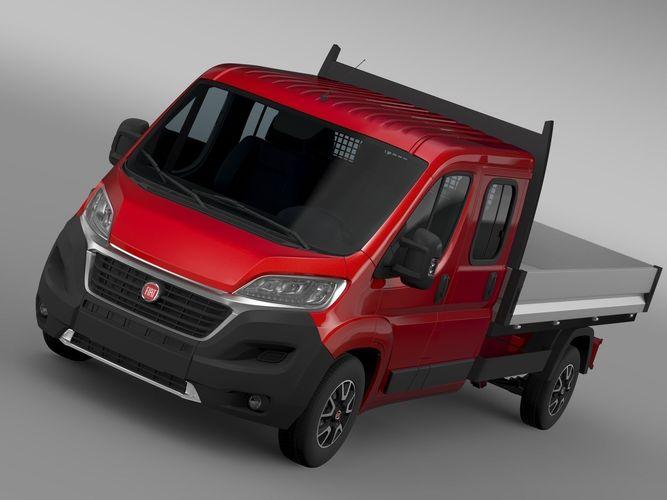 3d fiat ducato crew cab truck 2017 cgtrader. Black Bedroom Furniture Sets. Home Design Ideas