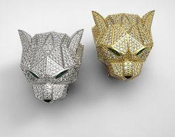 Diamond Panther Ring 3D Model