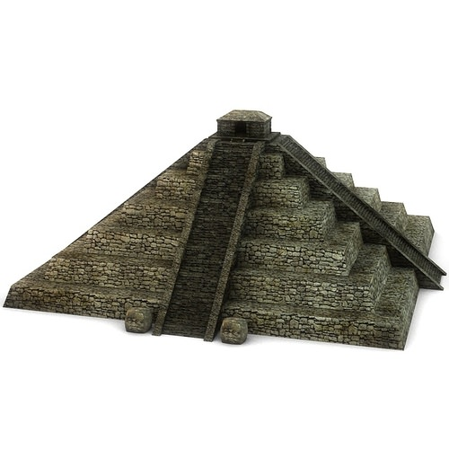 Ancient stone pyramid3D model