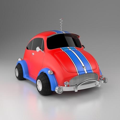 Car Toy 3D Model MAX OBJ FBX