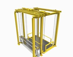 Construction lift 3D model
